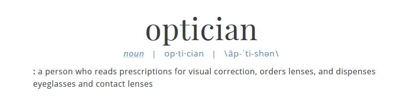 Optician definition