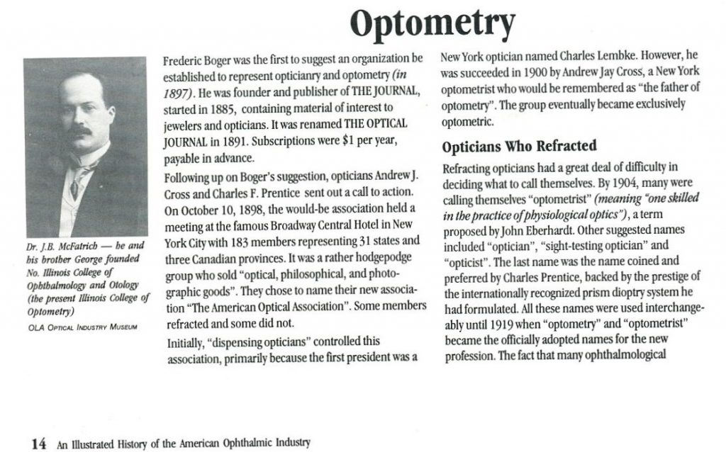 Optician to Optometrist organization