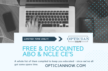 Free and discounted optician credits