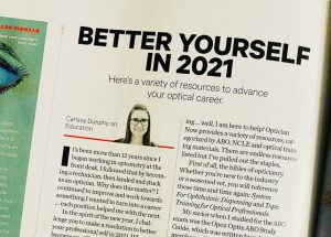 INVISION Magazine Article: Optical Resources to Better Yourself